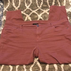 Mauve colored jeans from Lane Bryant